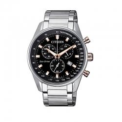 Orologio Crono della Of Collection di Citizen. Cronografo da uomo, cassa in acciaio con fondo serrato a vite.