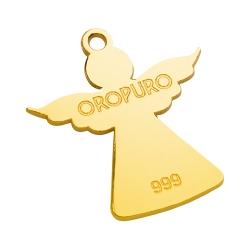 Ciondolo Angelo in oro puro 999 della collezione Preziosa.