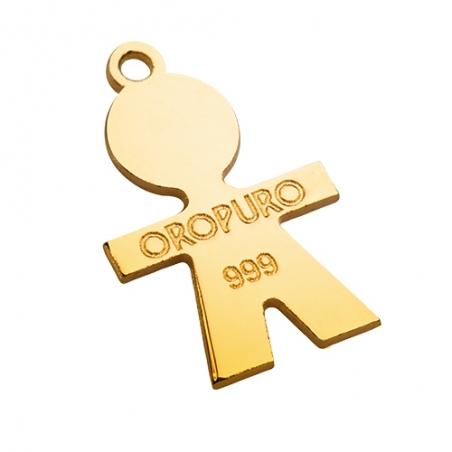 Ciondolo Bimba in oro puro 999 della collezione Preziosa.