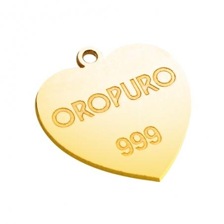 Ciondolo Cuore in oro puro 999 della collezione Preziosa.