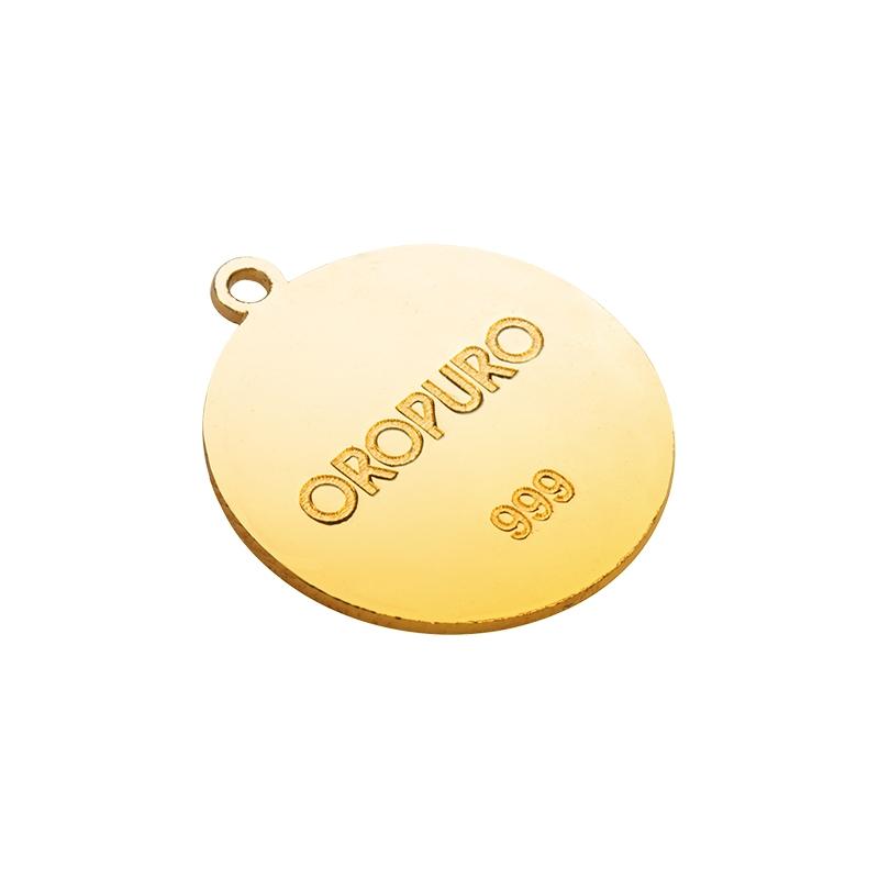 Ciondolo Cerchio della vita in oro puro 999 della collezione Preziosa