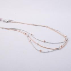 Girocollo Scintille, multifilo in maglia FOPE, bicolore, su base oro bianco e rosè 18kt.