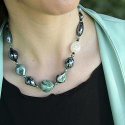 Collana Crevan di Antica Murrina con perle di vetro di Murano con varie lavorazioni veneziane.