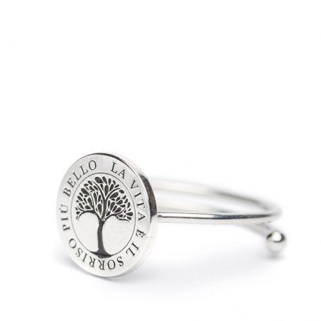 Life – Anello aperto argento - Cuorepuro.