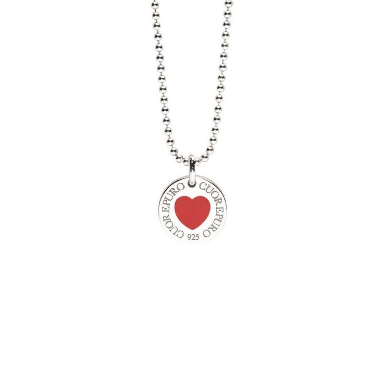 Cerchio della vita- Linea Classica – Collana cuore rosso - Cuorepuro.