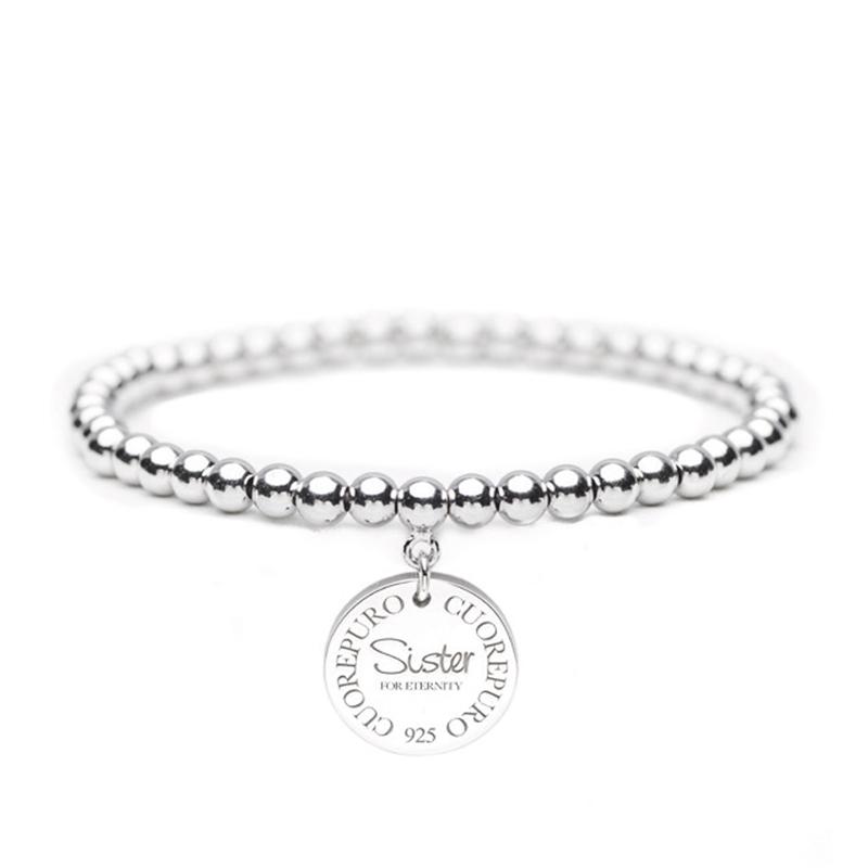 Cerchio della vita – Bracciale elastico Sister for Eternity