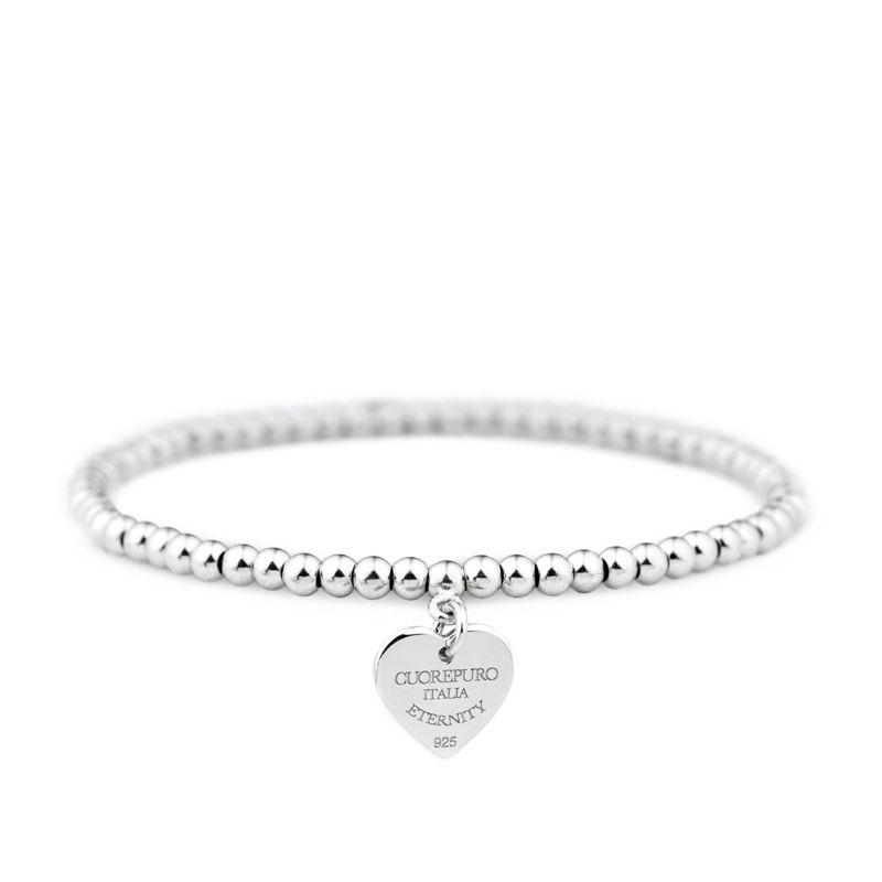 Amore Eterno – Bracciale elastico cuore 1 cm - Cuorepuro.