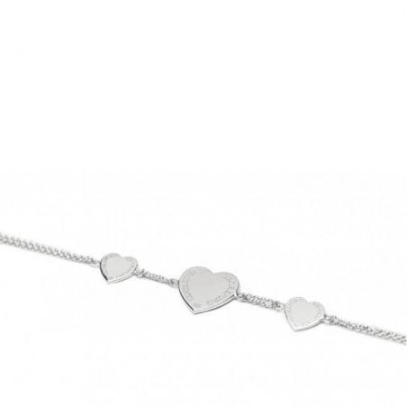ABBRACCI - Bracciale 3 cuori argento Cuorepuro.