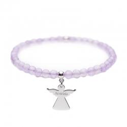Angelo del Cuore – Bracciale elastico in argento e pietre – Amicizia - Cuorepuro