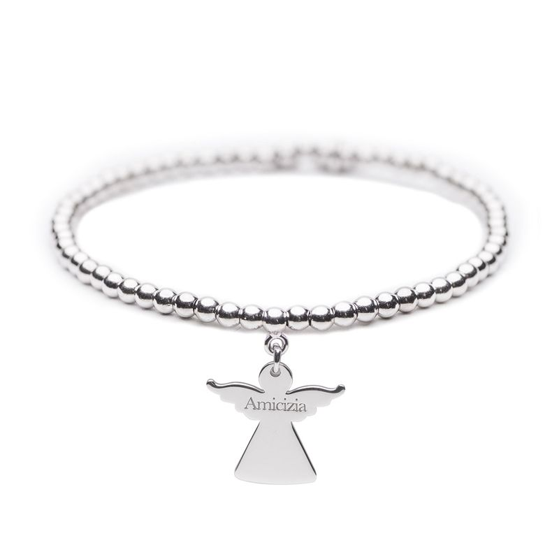 Angelo del Cuore – Bracciale elastico in argento – Amicizia - Cuorepuro.