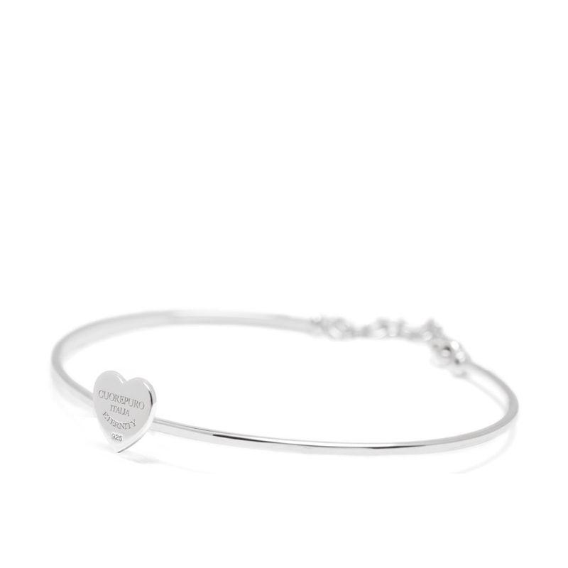 Amore Eterno – Bracciale rigido cuore 1cm - Cuorepuro.