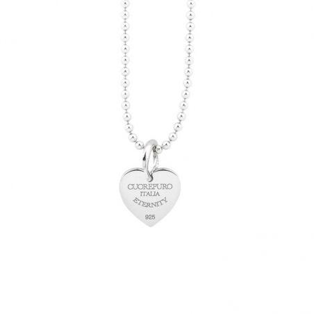 Collana 05 45 cm Amore Eterno in argento 925 rodiato.