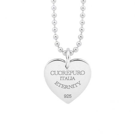 Collana 03 - 80 cm - Amore Eterno – Linea Classica – argento 925 rodiato di Cuorepuro.