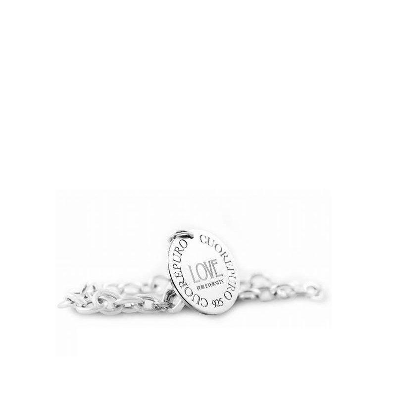 Bracciale Collezione Cerchio della Vita - Love - di Cuorepuro, in argento 925 rodiato.