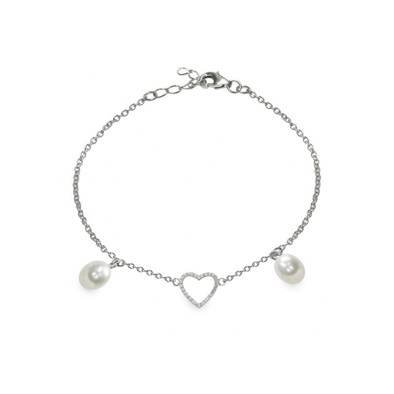 Bracciale in Argento 925‰ con  Perle Piena Perlagione - BS163, collezione Lovely di Mayumi. Made in Italy.