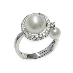 Anello in Argento 925‰ con Perle - AS147