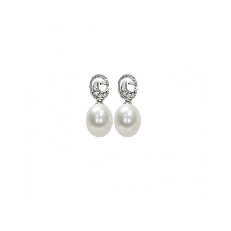 Orecchini in Argento 925‰ con Perle piena perlagione - OS210 della collezione Emozioni di Mayumi.