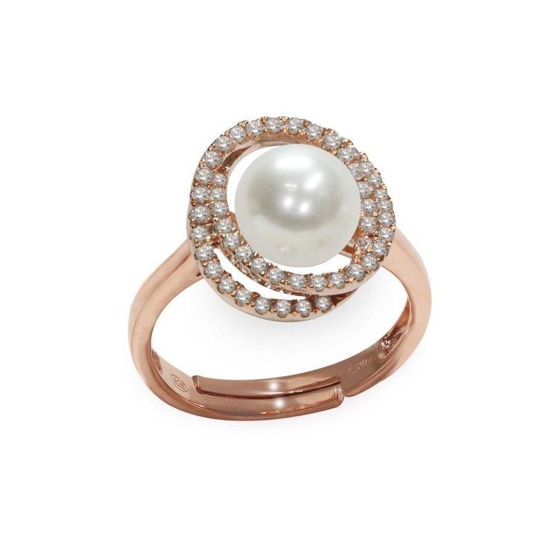 Anello in Argento 925‰ con Perla - AS162 - Mayumi gioielli