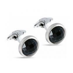 Gioielli realizzati in acciaio e cristalli neri.