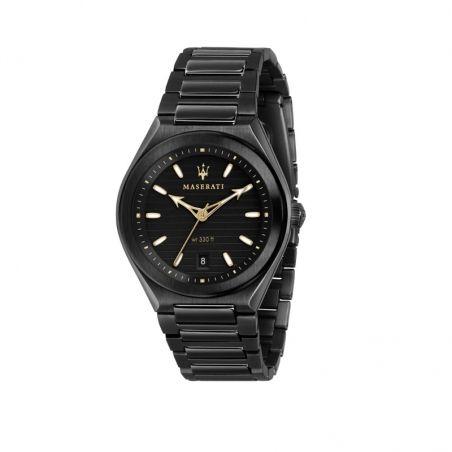 Orologio Maserati da uomo della collezione Triconic. Movimento al quarzo TMI VJ42 e funzioni di solo tempo con data.